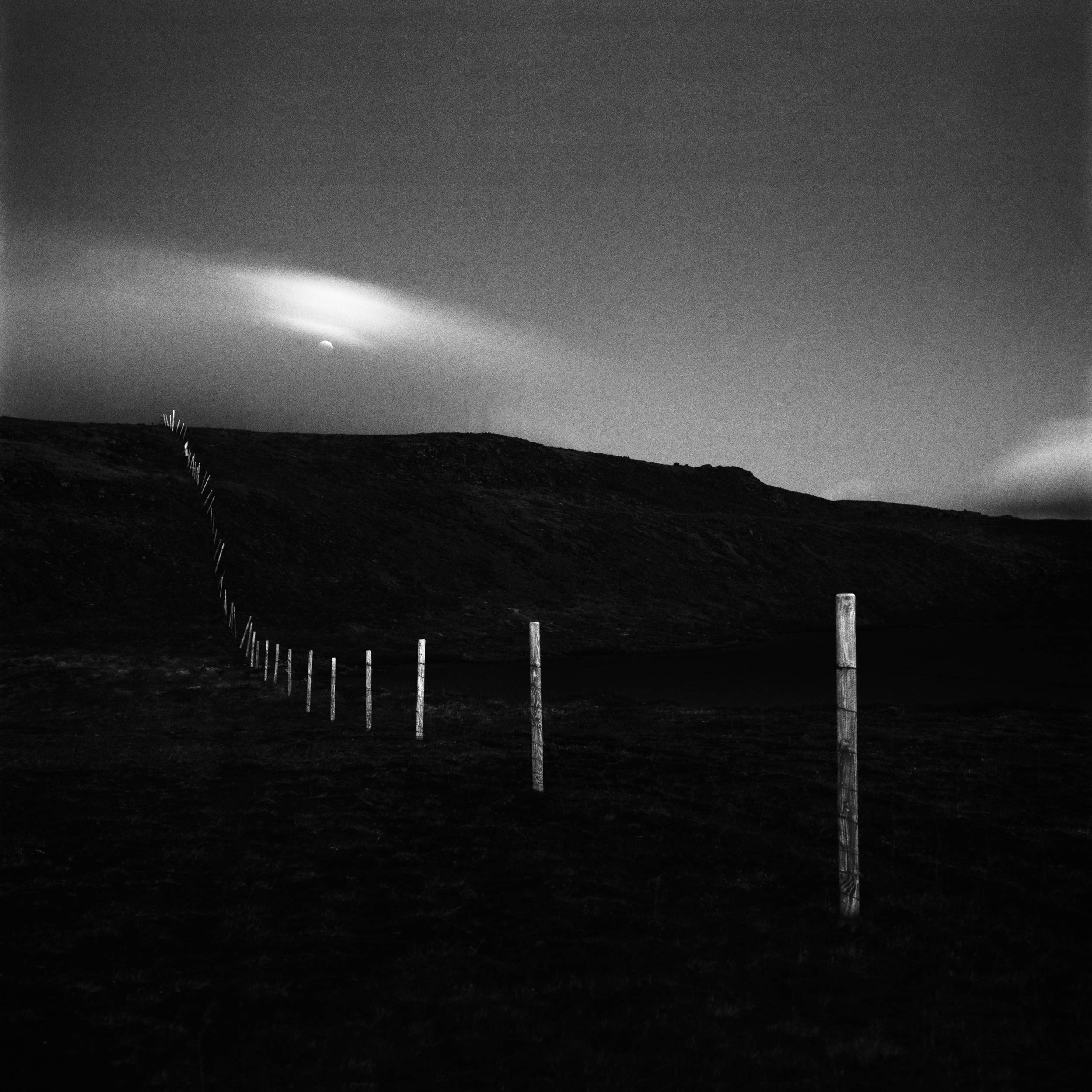 Fence to the moon, Iceland, 2015